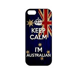 HC-Guarde la calma que soy modelo de Australia Bandera australiana de plástico duro caso para iPhone 5/5S