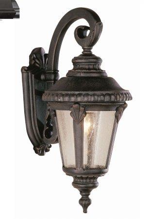 Trans Globe Lighting 5043 BK Outdoor Commons 19u0026quot; Wall Lantern, ...