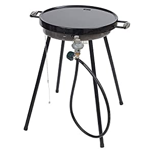 Bayou Classic 18 Inches Outdoor Portable Propane Griddle For Camping, Tailgating, Or BBQ Outdoors. Gas Powered Flat Steel Plate Cooktop For Burgers To Pancakes and More.