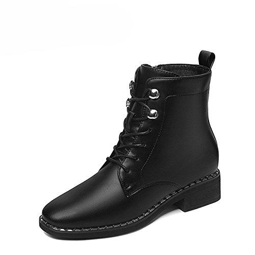 Martin Avec Le Les KHSKX Nouveau Femmes Et Korean Bottes Petit Chaussures Match Un Hiver Bottes Le Vent black Des Velours zEEdvqxSw