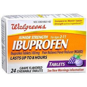 Walgreens Junior Strength Ibuprofen Chewables, Grape, 24 ea