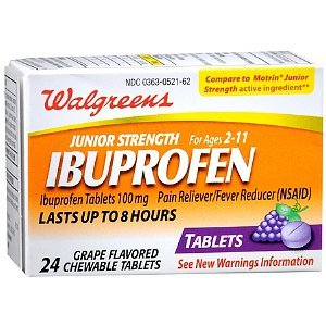 Walgreens Junior Strength Ibuprofen Chewables, Grape, 24 ea