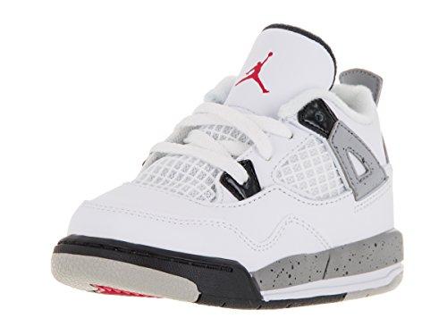 Nike Jordan Toddlers Jordan 4 Retro Bt White/Fire Red/Bla...