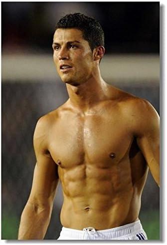 Cristiano Ronaldo CR 7 9 Póster de seda (36 x 24 pulgadas Big C ...