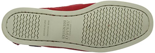 Rouge Canvas Sebago Red Chaussures Femme Bateau Docksides ZwwCIxYqH
