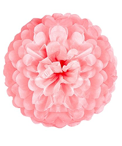 Lansian 30PCS Tissue Paper Pom Pom Flowers Pink White Gold Tassel Garland Banner for Wedding Bridal Birthday Graduation Baby Shower Decorations Party Supplies by Lansian (Image #4)