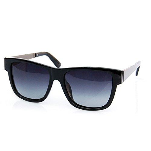 Conway 2132 New Wayfarer Unisex Polarized Sunglasses For Men Or Women (BLACK,