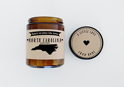 North Carolina Scented Candle Missing Home Homesick Gift Moving Gift New Home No Place Like Home State Candle Missing You Valentines Day - North Carolina Place