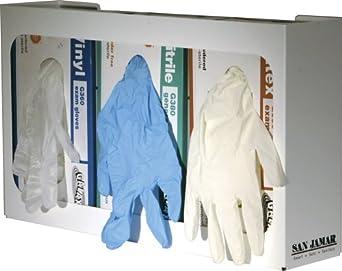 "San Jamar G0805 16-1/2"" Width x 10"" Height, 3-3/4"" Depth, Clear Color, Three-Box Disposable Glove Dispenser"