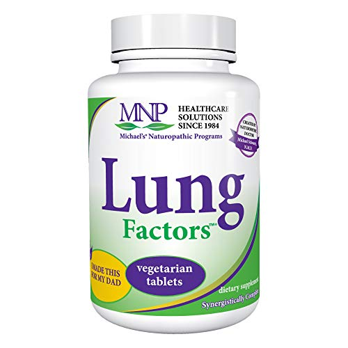 Michael's Naturopathic Programs Lung Factors - 120 Vegetarian Tablets - Nutrients for Functioning of The Lungs, with Vitamin D, Calcium, and Magnesium - Kosher - 40 Servings