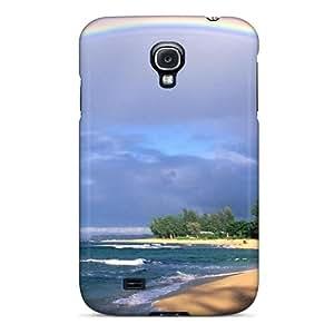 BJBcke Perfect Tpu Case For Galaxy S4/ Anti-scratch Protector Case (rainbows Rainbow Over Kauai Beach)