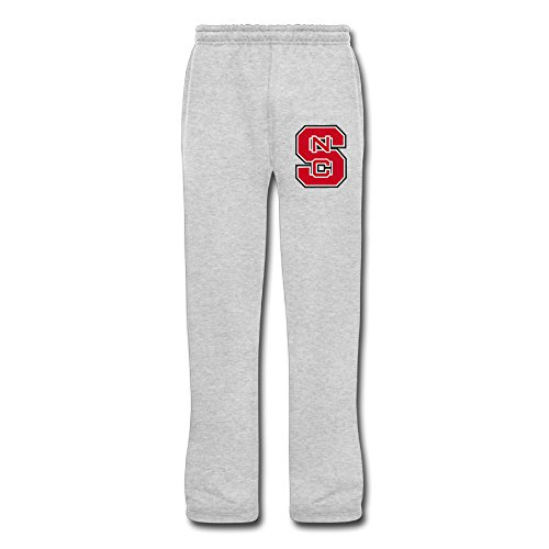Men's NC State Wolfpack Sweatpants Ash 3X Running - Wolfpack Pajamas State Nc