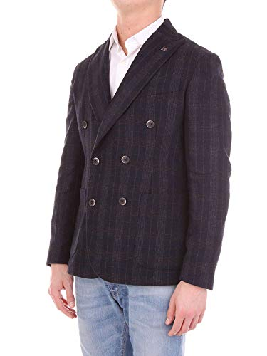 Men's Bottega Martinese Blazer G023700blue Blue Wool 45A6qx5w