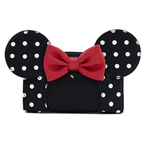 Loungefly x Disney Minnie Mouse Polka Dot Cosplay Flap Wallet (One Size, Black/White/Red)