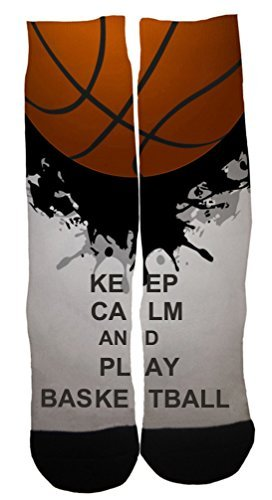 Kalily Custom Basketball Dri-fit Crew Socks with Designs (Color 2)
