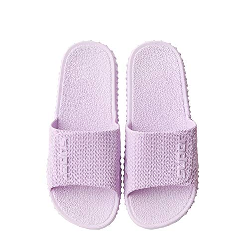 Purple Womens Mens Indoor Bathroom Shower Solid Quick Drying Slippers Poolside Shoes Womens Shower Shoes Women Pool Sandals Ladies Woman Slip On Sandals 40-41