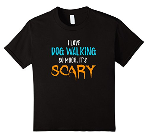Kids Walker Costume (Kids I Love Dog Walking T-Shirt as Funny Scary Halloween Gift 8 Black)