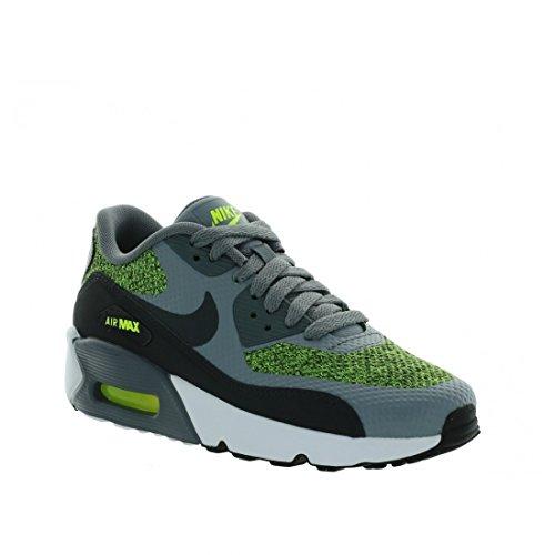 NIKE Kids Air Max 90 Ultra 2.0 (GS) Running Shoe (6 Big Kid M, Cool Grey/Anthracite-Volt)