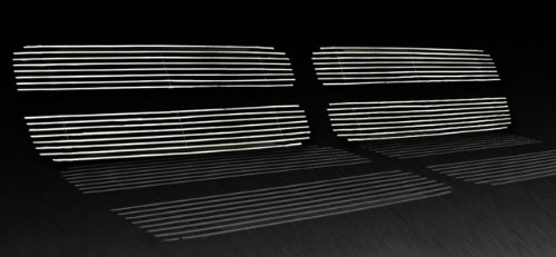 Ram Sport Replacement Upper 4PC Horizontal Billet Polished Aluminum Grille Grill Insert (Horizontal Billet Grille)