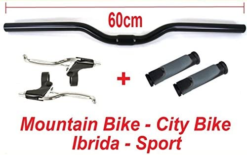 City Bike MTB Leve FRENO MANUBRIO 60cm NERO MANOPOLE UltraGrip ideale bicicletta Mountain Bike
