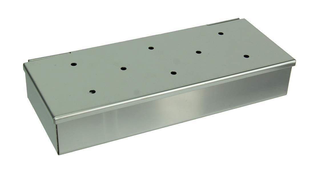Things2Die4 Mr. Bar-B-Q Stainless Steel Hinged Lid Wood Chip Smoker Box by Things2Die4