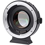 VILTROX EF-M2 Focal Reducer Booster Adapter Auto-focus 0.71x Canon EF mount series lens to M43 camera ,with USB update port