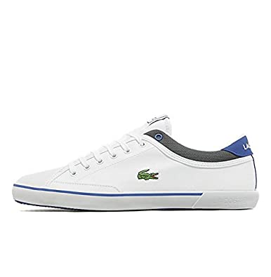 20758d3e340f Lacoste Angha LNH SPM White Dark Blue Leather Mens UK 7 USA 8 EUR 40.5   Amazon.co.uk  Shoes   Bags