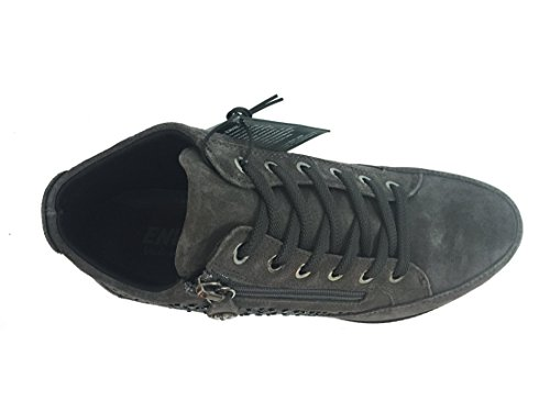 8937 GRIGIO Scarpa donna sneaker Enval soft pelle made in Italy
