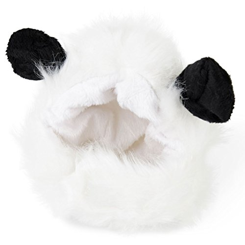 Cat Panda Costume (Cute Fluffy Panda Hat Wig Accessory for Cat Puppy Dog Funny Pet)
