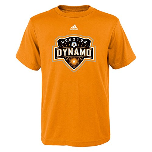 MLS Houston Dynamo Boys 8-20 Primary Logo Short Sleeve Tee, Orange, Small