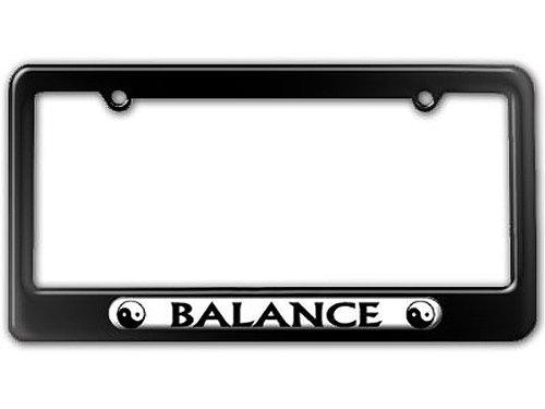Balance Frames - Graphics and More Balance - Yin Yang - Chinese Symbol License Plate Tag Frame - Color Gloss Black