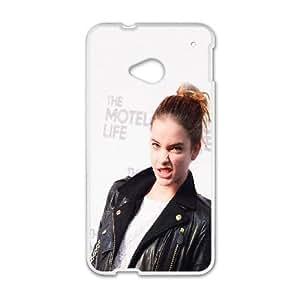 HTC One M7 Cell Phone Case White ha31 barbara par girl face TR2414213