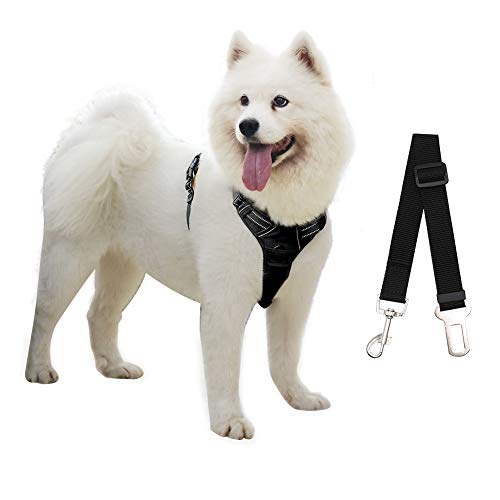 PHILWIN Large Dog Harness, No-Pull Vest Harness with Safe Belt, Reflective & Adjustable, Breathable Oxford Material, Easy Control for Outdoor Walking
