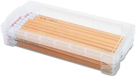 Super Stacker Pencil Box Blue NEW FREE SHIPPING 8.5x3.81x1.63 Plastic,
