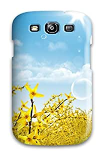 Awesome Sun Glow Flip Case With Fashion Design For Galaxy S3