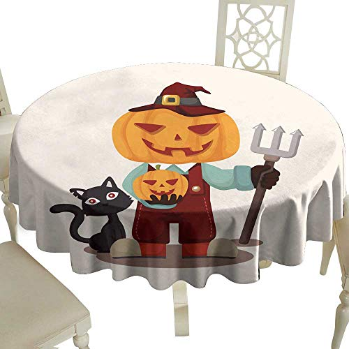 WinfreyDecor Waterproof Tablecloth Halloween Party Costume Theme Elements Great for Buffet Table -