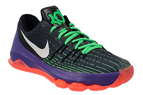 Nike Youth Boys KD 8 Basketball Shoes-Black/Green Shock/Hyper Orange-6.5