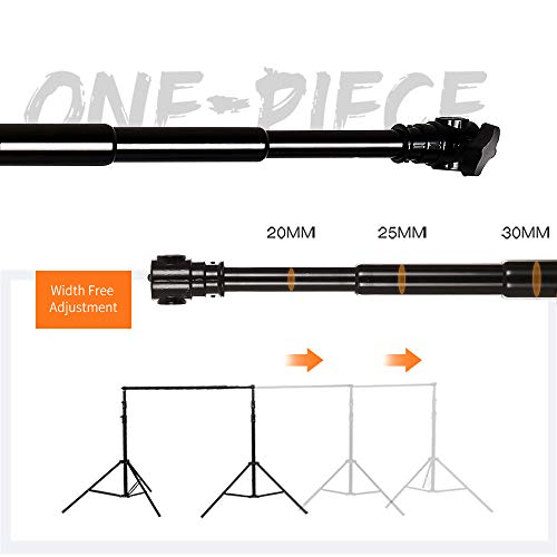 SH Telescopic Tube Background Support Pole and Stand, 9 x 10FT Heavy Duty Background Stand Backdrop Support System Kit with Carry Bag for Photography Photo Video - Telescopic Tube