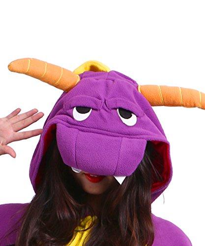 Unisex Animale Dragon Onesies Pigiama Adulto Kigurumi Viola RqHvA
