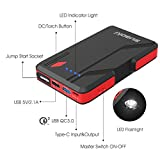 Suaoki P4 500A Peak Jump Starter Car Battery Booster (Up to 5.0L Gas or 2.0L Diesel Engines) and Power Packs with QC 3.0 Type-C 5V/3A Port