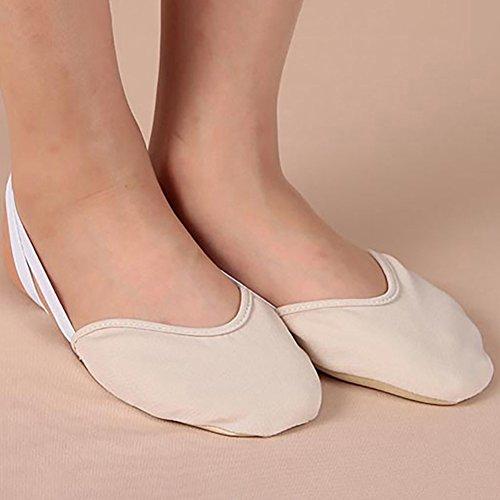 Rosesummer Footful Toe Chaussures Ballet Pointe Danse Femmes Gymnastique Rythmique Pantoufles Pied Protecteur Peau