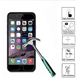 "Compatible for iPhone 8, 7, 6S, 6 Screen Protector Glass, amFilm Tempered Glass Screen Protector for Apple iPhone 8, 7, iPhone 6S, iPhone 6 [4.7"" inch] 2017 2016, 2015 (2-Pack)"