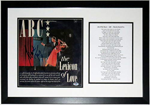 Martin Fry Signed ABC The Lexicon of Love Album - PSA DNA COA Authenticated - Professionally Framed & Lyrics