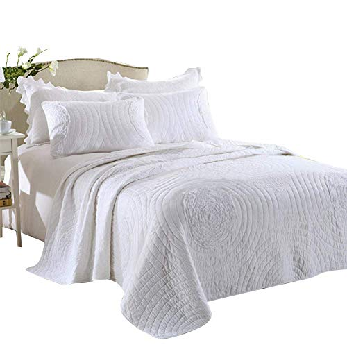 mixinni King Quilt Set White 106