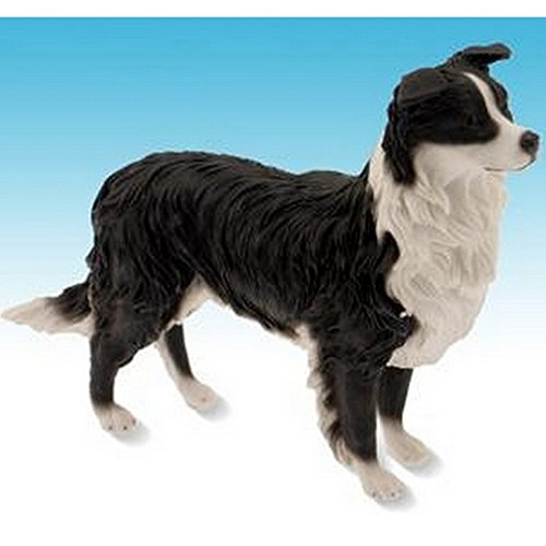 Gainsborough Gifts Border Collie Dog Stalking Figurine (7 Inch) (Black/White)