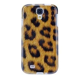 Amarillo del leopardo del grano del caso suave del tpu para la galaxia i9500 s4