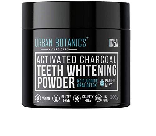 UrbanBotanics® Activated Charcoal Teeth Whitening Powder – Enamel Safe Teeth Whitener – Suitable for Sensitive teeth…