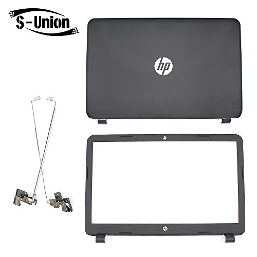 S-Union New Replacement LCD back cover & Front Bezel & hinges for HP 250 255 G3 15-G 15-H 15Z-G 15G 15R 15-G040CA 15.6