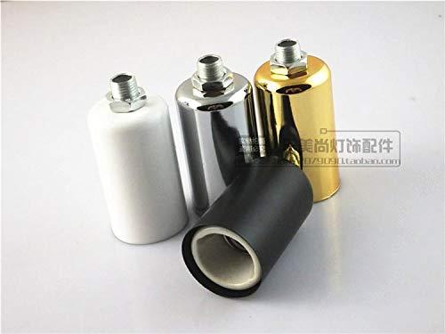 Kamas 1PC E14 lamp socket Pottery and Porcelain lamp holder diy chandelier - (Color: Gold)