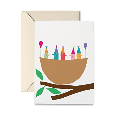 R. Nichols Birdie Party Greeting Card with Envelope ()